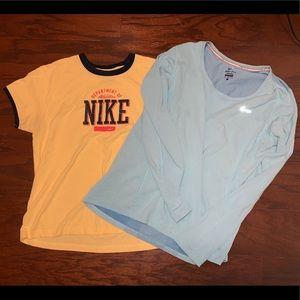 2 women's Nike shirts